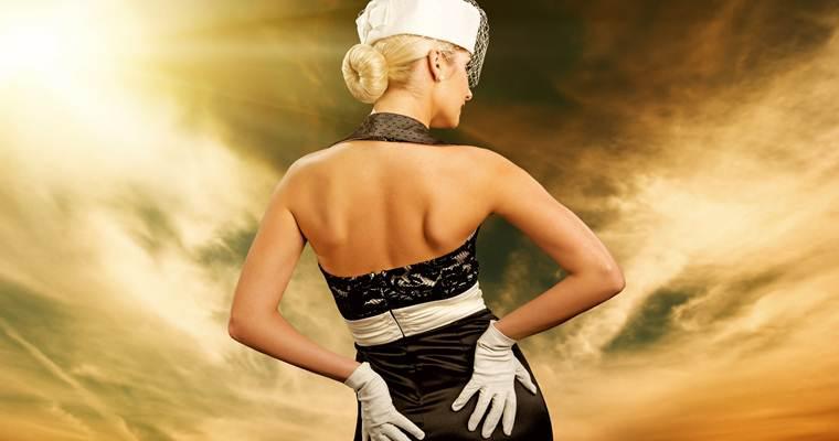 Платья для праздников в черно-белых тонах