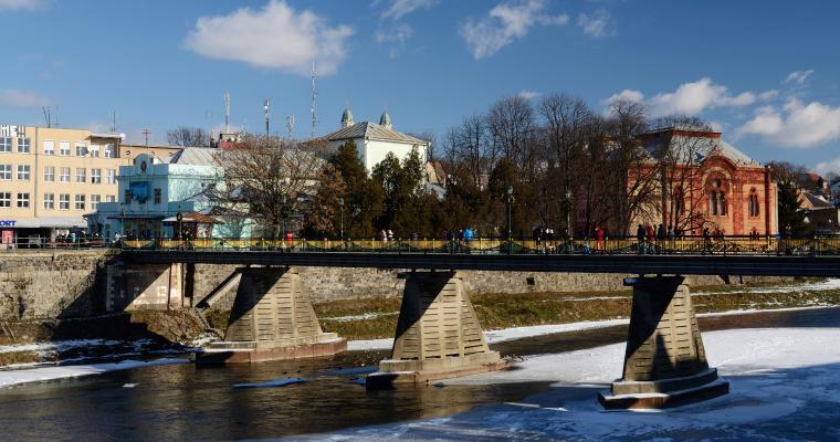 Старый пешеходный мост через реку Уж, Ужгород