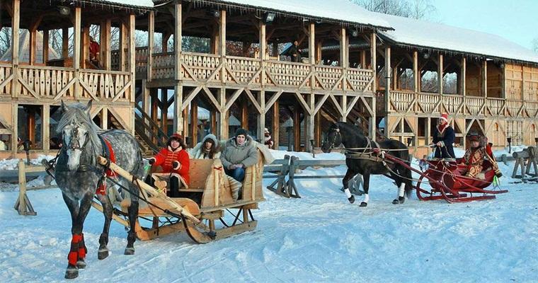 Новогодняя сказка в Парке Киевская Русь